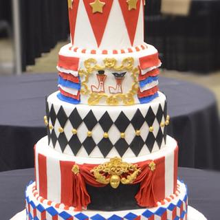 Circus themed wedding cake