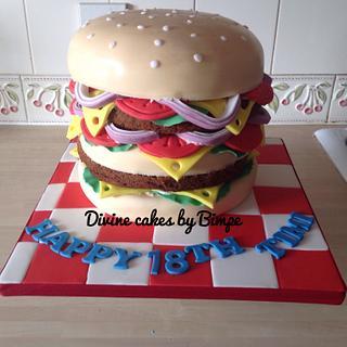 Big Mac burger cake
