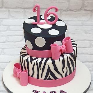 My first topsy turvy cake