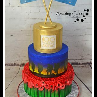 Anzac Collaboration Cake