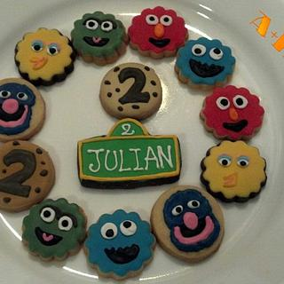 sesame street cookies mini