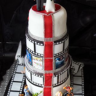 Movie themed Wedding cake