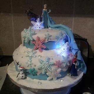 frozen for my little girl x - Cake by karlie