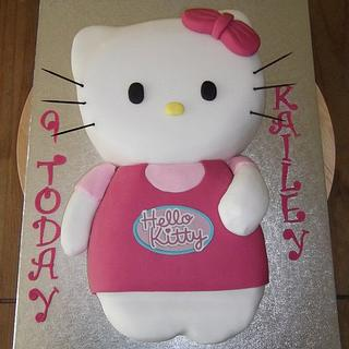 Carved Hello Kitty cake - Cake by Claire