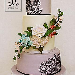 Modern meet classic wedding cake - Cake by JT Cakes