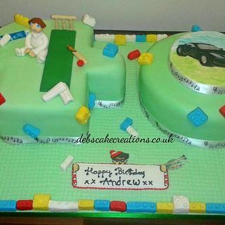 40th Sporting lego cake