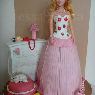 Ashley's Barbie and dresser cake