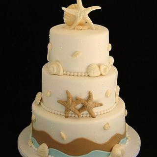 Beach Themed Cake - Cake by Elisa Colon