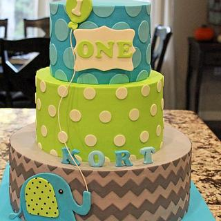 KORT'S 1ST BIRTHDAY - Cake by Kendra