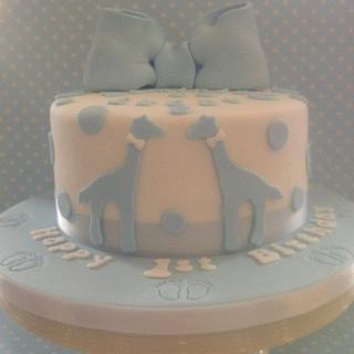 Giraffes! - Cake by BellaButterflys