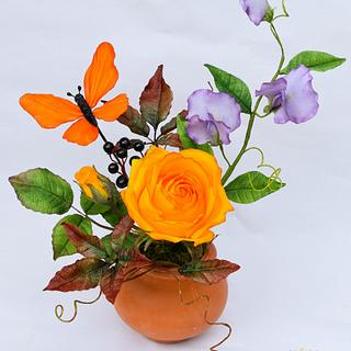 Autumn sugar flowers
