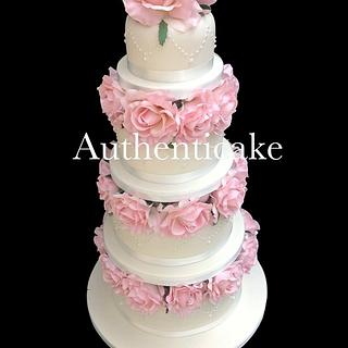 One of last week's wedding cakes @ authenticake
