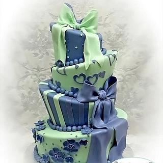 Mint & Lavendar Birthday Cake
