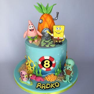 Spongebob birthday cake - Cake by Layla A