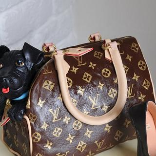 Louis Vuitton Handbag - Cake by Calli Creations