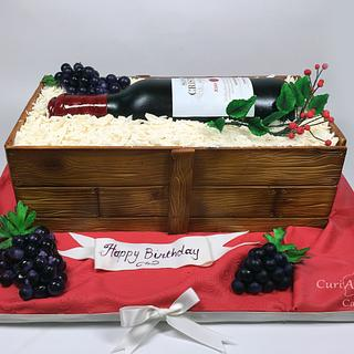 Wine box and bottle cake!