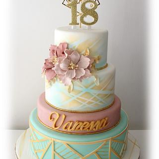 Vanessa's 18th birthday cake