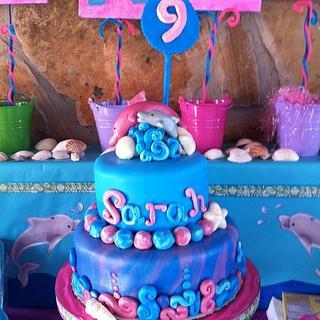 Birthday Cake Dolphin - Cake by amparoedith