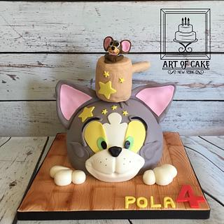 Tom and Jerry 3D Birthday Cake