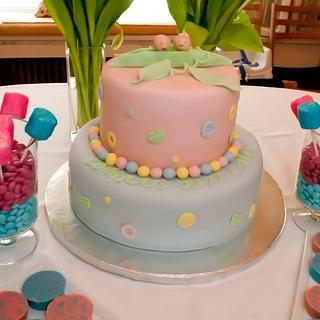 Two Peas in a Pod Shower Baby Shower Cake - Cake by Janet