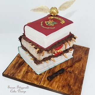 Harry Potter Books Cake - Cake by Susan Fitzgerald Cake Design