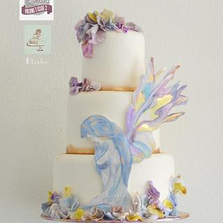 lady Iris watercolor - Cake Central