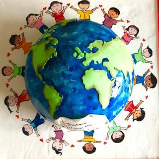 Teachers change the world, one child at a time !  - Cake by Somoshree Khandekar