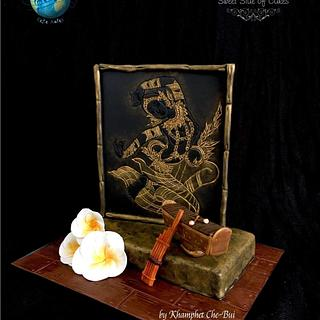 Lao Folklore Music for Music Around the World - Cake Notes - Cake by Sweet Side of Cakes by Khamphet