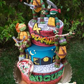 Torta tartarughe ninja - Ninja turtles cake - Cake by Dolcidea creazioni