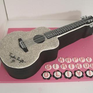Taylor Swift Guitar Birthday Cake