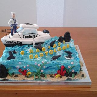 CAKE THE BOAT AND SAILOR