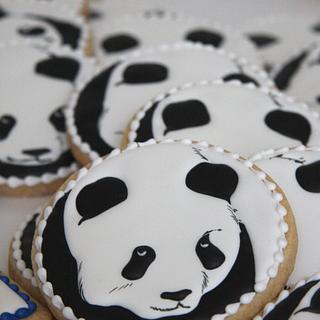 Panda Cookies - Cake by Cookie Hound!