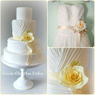 ruched wedding cake