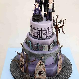 Vampire-Gothic Wedding Cake