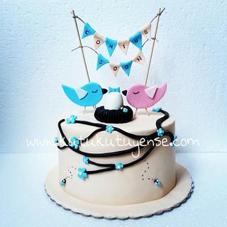 Bird Theme Babyshower Cake