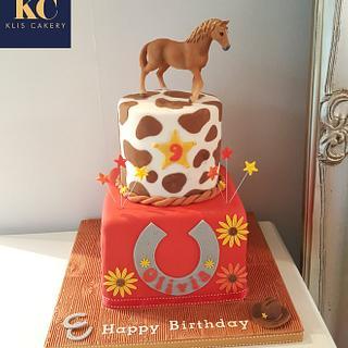 Horse Riding Cake - Cake by Klis Cakery