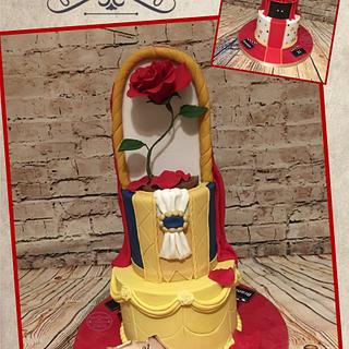 Split cake beauty and the beast/oscars