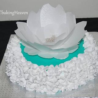 wafer paper flower cake...