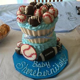 baby shower cake - Cake by angela