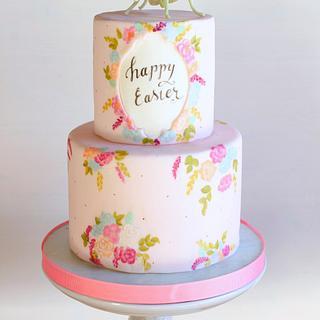 Floral Mantis Easter Cake