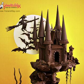 Spooky Chocolate Castle Cake - Cake by Serdar Yener   Yeners Way - Cake Art Tutorials