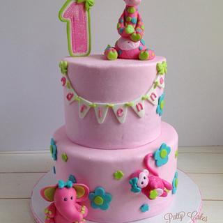 Cheeky pink 1st birthday cake - Cake by Patty Cakes Bakes