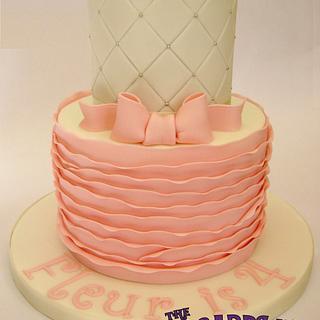 Mini 2 Tier Girly Ruffle Cake