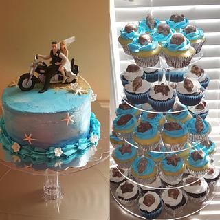 Beach wedding and cupcakes - Cake by Tiffany DuMoulin