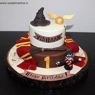 Harry Potter theme cake for boys 1st birthday