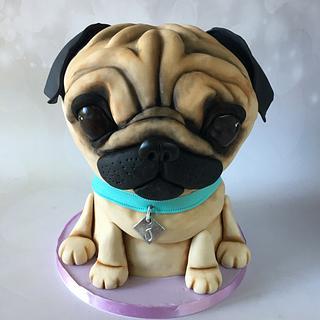 3D Pug Puppy Cake