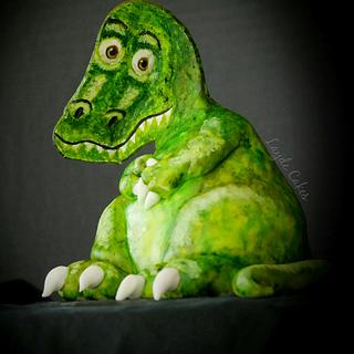 T-Rex Illusion Cake
