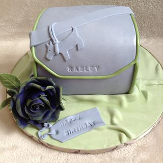 Mini chest radley bag with purple and green rose