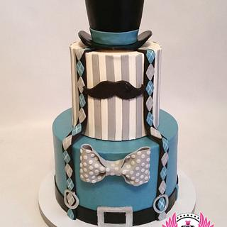 Little Gentleman First Birthday - Cake by Cakes ROCK!!!