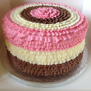 Buttercream frill cake